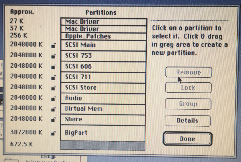 Drive with Many Partitions